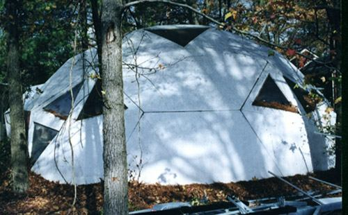 Picture of geodesic dome built by IFG.