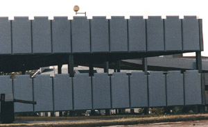 Picture of Duke parking deck - panels fabricated by CFI.